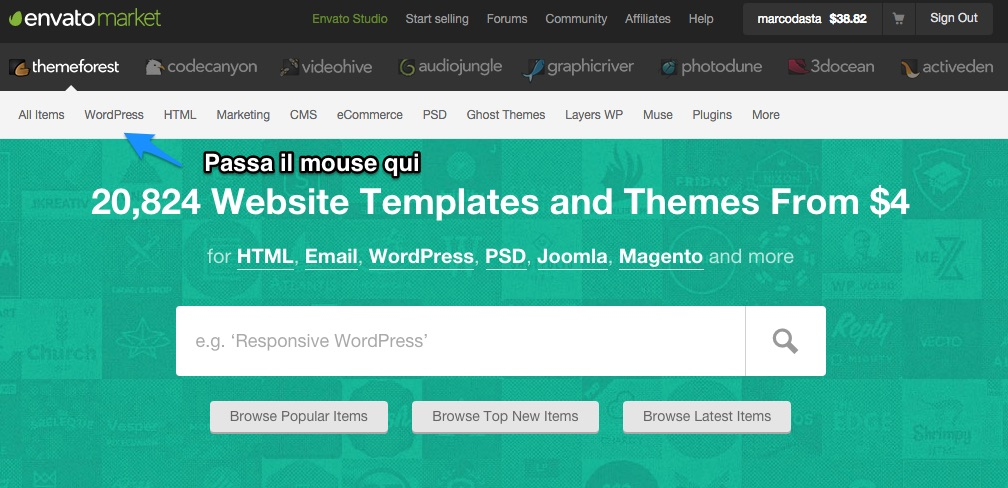 come installare tema wordpress