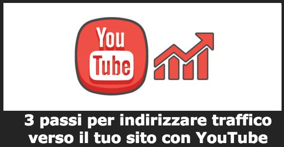 3 passi per indirizzare traffico verso il tuo sito con YouTube