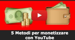 5 Metodi per monetizzare con YouTube