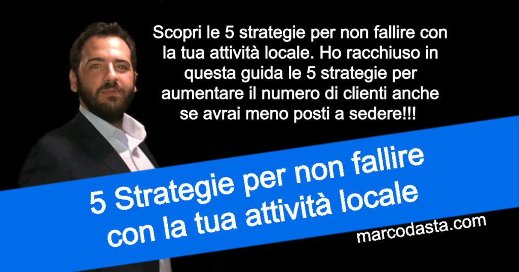 5 Strategie per non fallire con la tua attività locale
