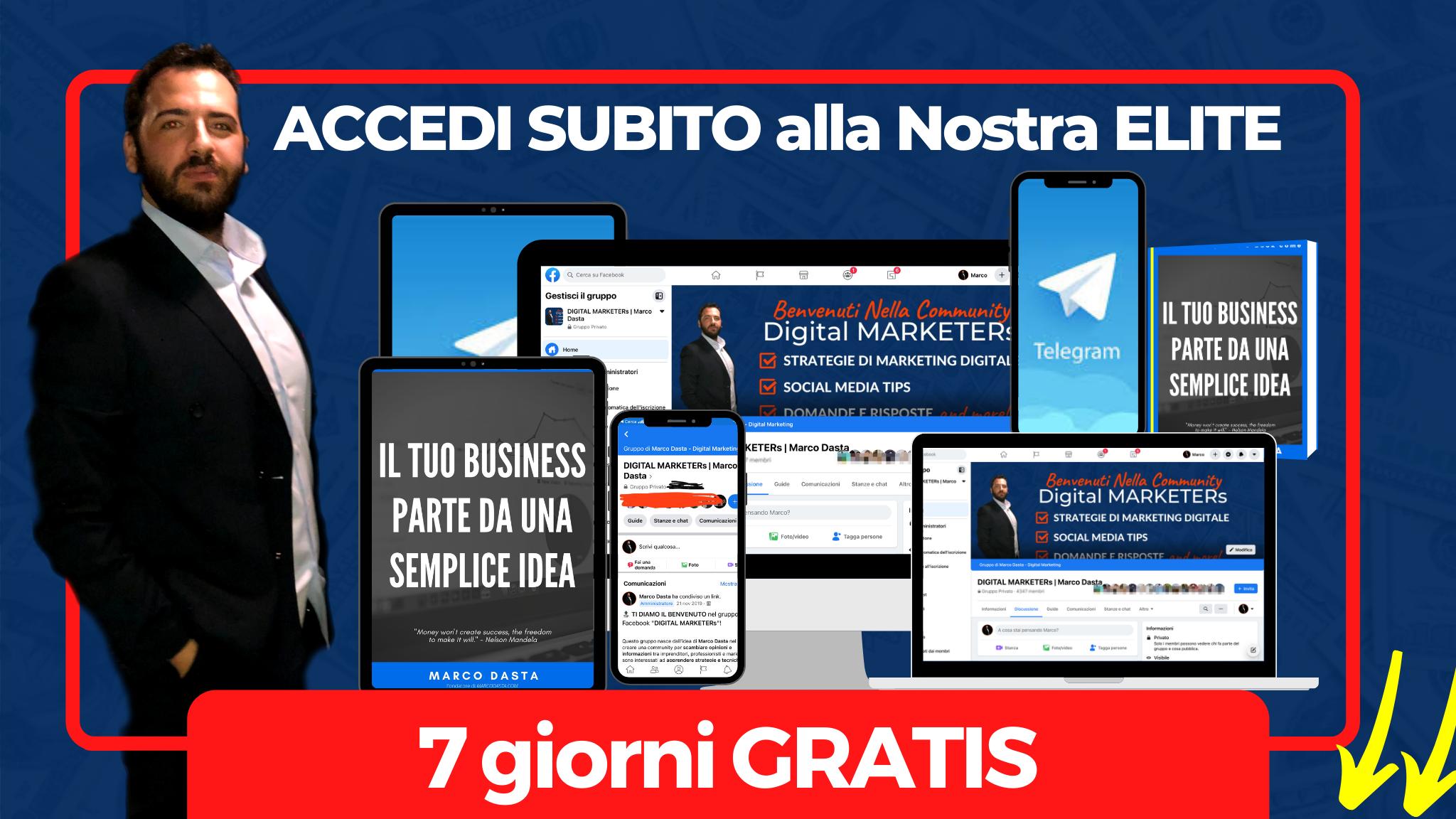 marketing strategico elite 7 giorni gratis