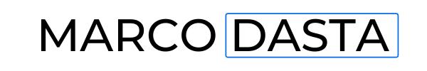 marco dasta logo blu