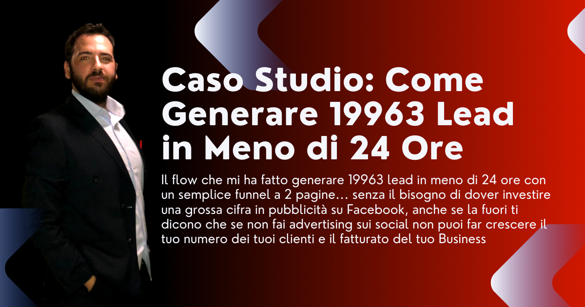 Come ho generato 19963 lead in meno di 24 ore