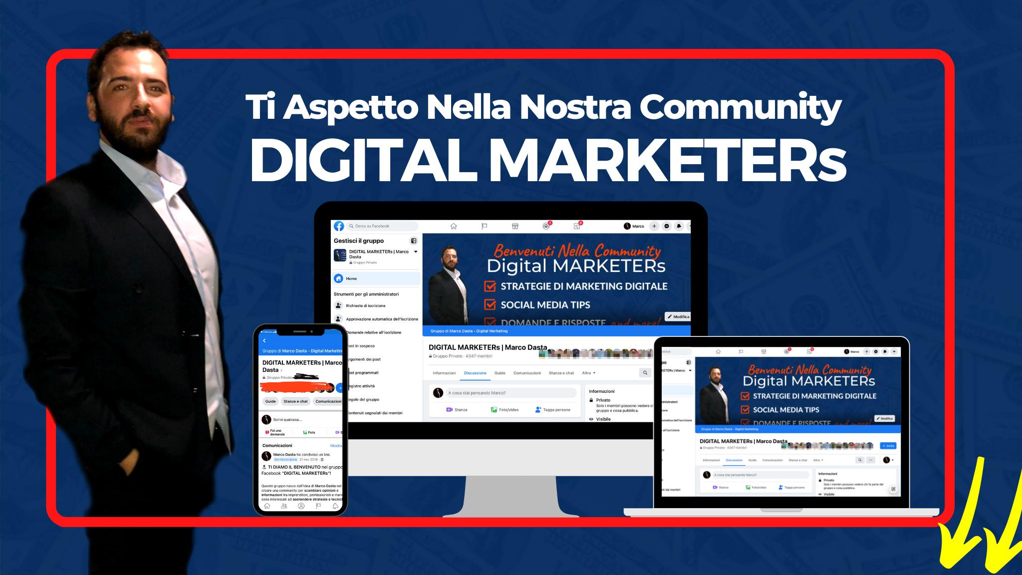 community marketing digitale marco dasta